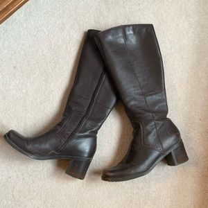 Heeled Tall Leather Boots